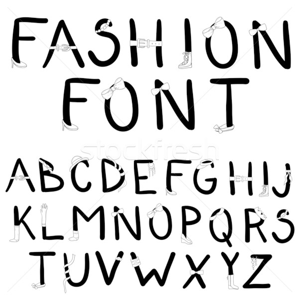 Fashion font. Font with fashion accessories. Stock photo © lapesnape