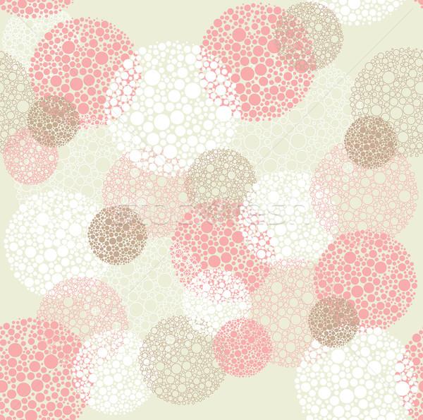 Resumen sin costura círculos patrón tejido Foto stock © lapesnape