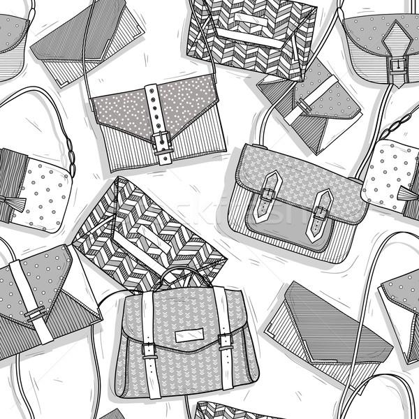 Fashion bags seamless pattern for girls Stock photo © lapesnape