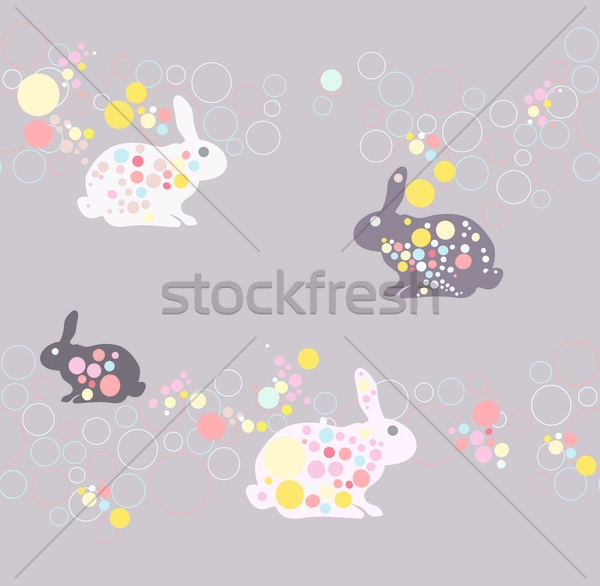 Cute rabbit pattern Stock photo © lapesnape