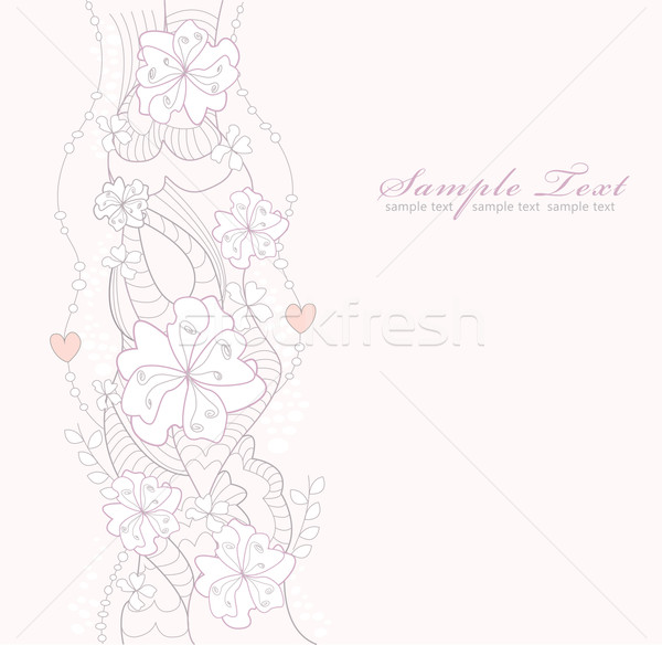 Flor de cereja rabisco convite primavera amor Foto stock © lapesnape