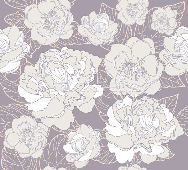 Seamless floral pattern. Background with flowers. Stock photo © lapesnape