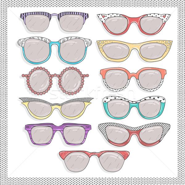 Retro okulary zestaw plaży oka słońce Zdjęcia stock © lapesnape