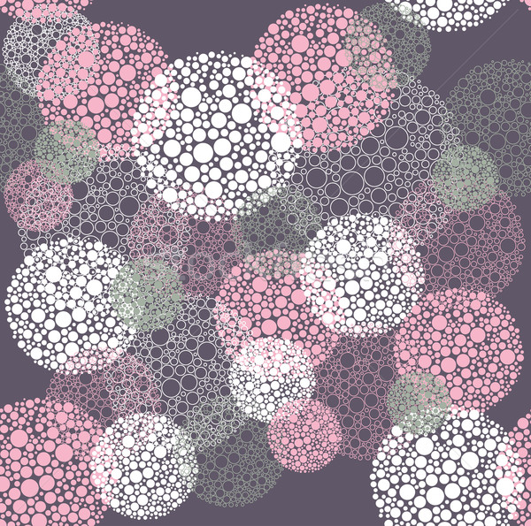 Abstract seamless polka dot circles pattern Stock photo © lapesnape