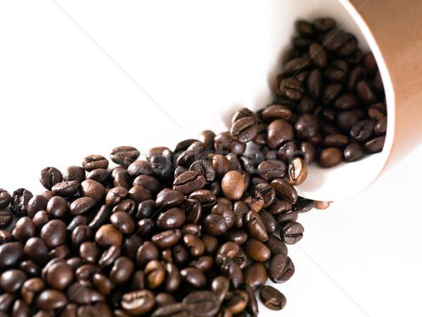 кофе Кубок белый кофе пить темно Сток-фото © ldambies