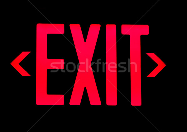 Exit neon sign Stock photo © ldambies