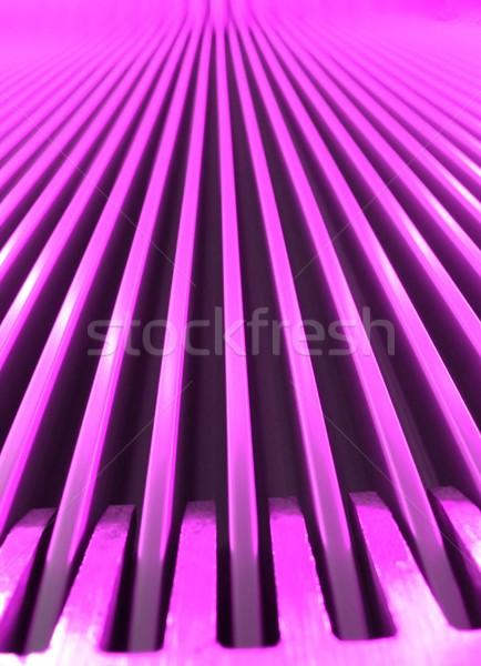Rose escalator macro vue éclairage Photo stock © ldambies