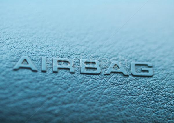 Hava yastığı makro imzalamak gösterge paneli güvenlik siyah Stok fotoğraf © ldambies
