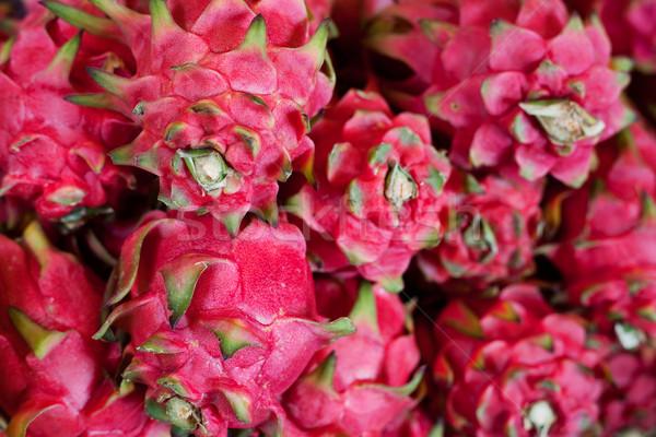 Dragon fruits fraîches vente alimentaire marché Photo stock © ldambies