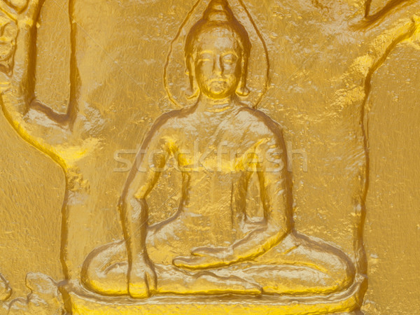 Buddhist gold statue Stock photo © ldambies