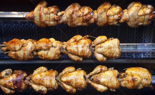 ресторан куриные обеда приготовления Сток-фото © ldambies