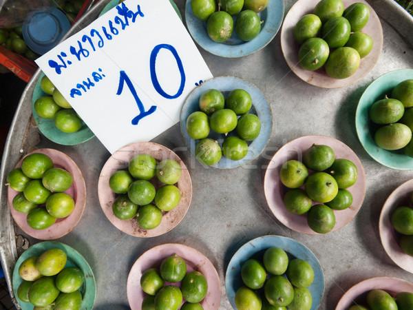 зеленый лимоны продажи продовольствие рынке Таиланд Сток-фото © ldambies