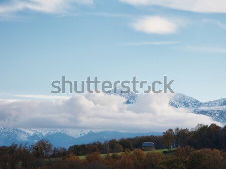 Mountain range panorama with clouds Stock photo © ldambies