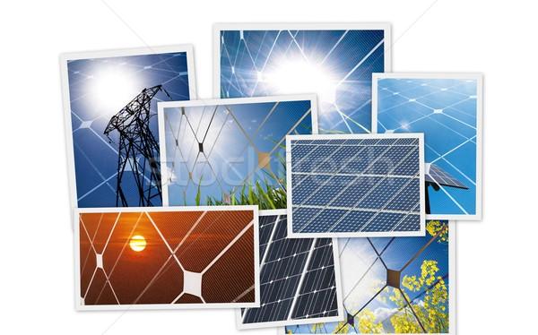 Photovoltaïque énergie soleil nature fond Photo stock © ldambies