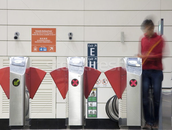 Subway entrance Stock photo © ldambies