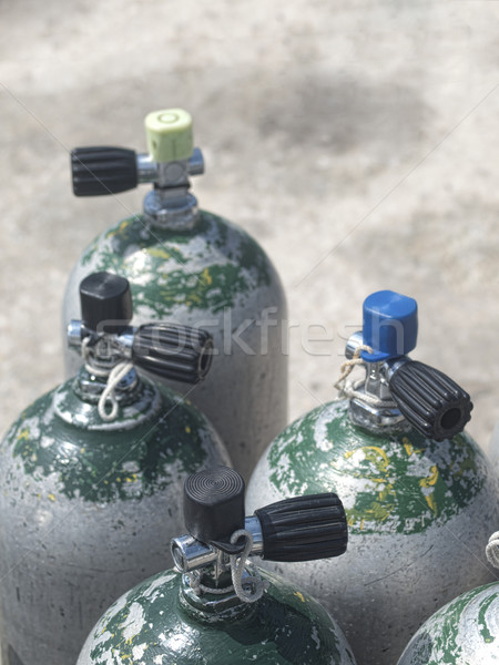 Plongée bouteilles oxygène permanent préparation plongée Photo stock © ldambies