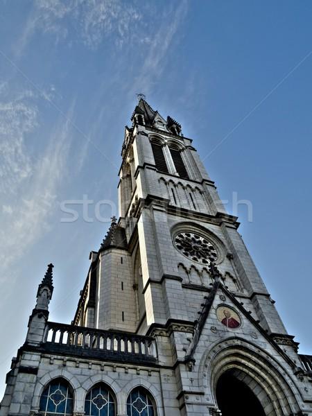 Lourdes basilica Stock photo © ldambies