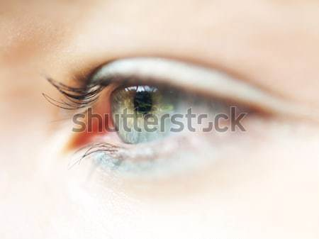 Oeil macro belle fille sélectif Photo stock © ldambies