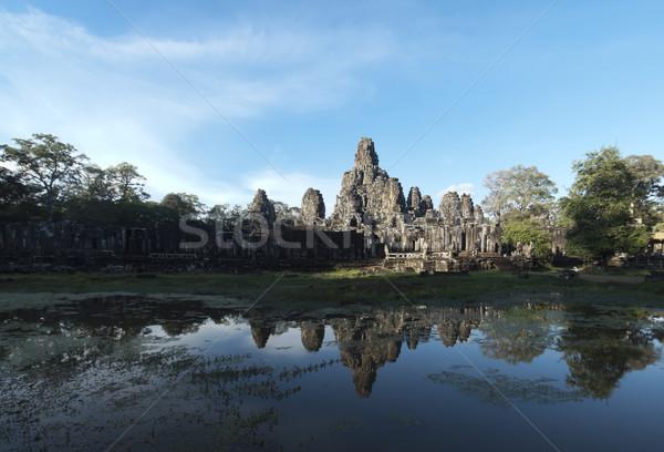Tempel panorama angkor Cambodja panoramisch Stockfoto © ldambies