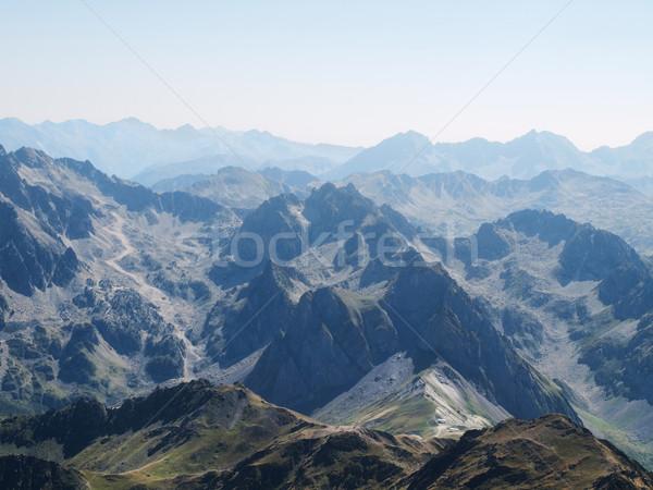 Francês montanhas alcance ver montanha viajar Foto stock © ldambies