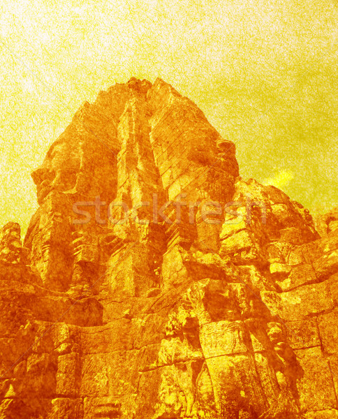 Yüzler taşlar tapınak angkor Kamboçya mimari Stok fotoğraf © ldambies