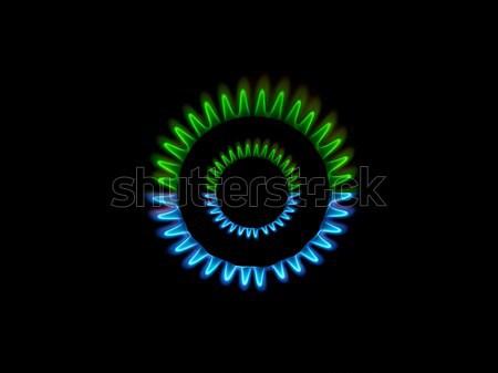 Gas burner flames  Stock photo © ldambies
