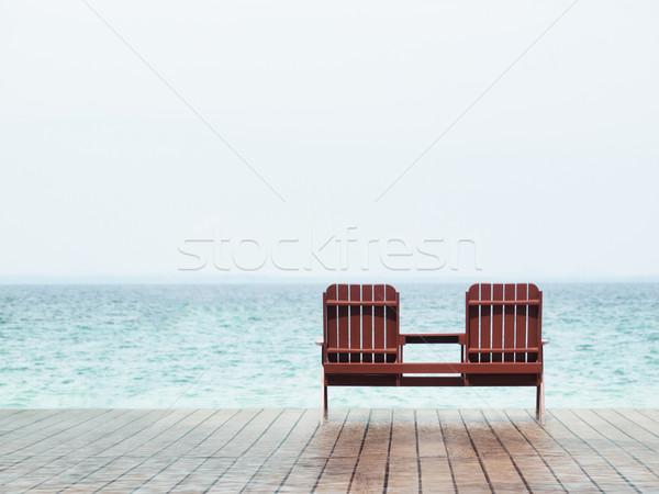 пляж курорта два пусто Председатель Сток-фото © ldambies