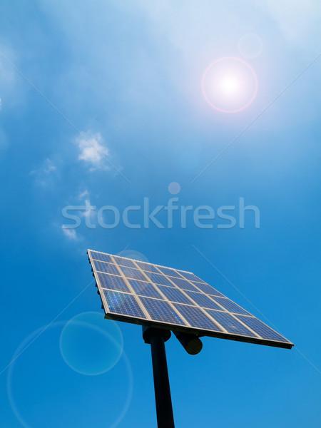 Blue Sky солнце вспышка природы синий Сток-фото © ldambies