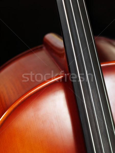 チェロ クローズアップ 画像 美しい 孤立した 黒 ストックフォト © ldambies