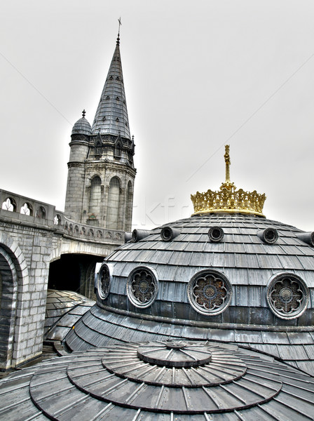Basilica in Lourdes France Stock photo © ldambies