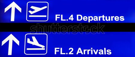 Airport sign in Thailand Stock photo © ldambies