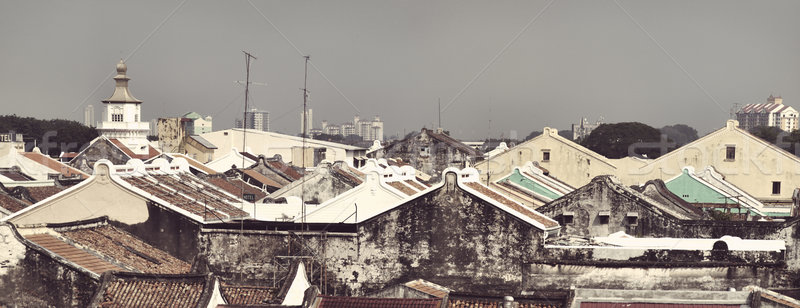 Malacca  rooftops Stock photo © ldambies