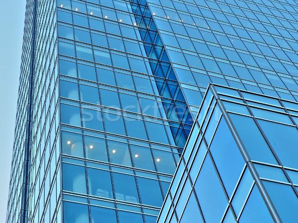 Escritórios edifício luzes negócio cidade azul Foto stock © ldambies