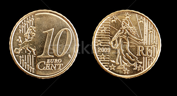 Ten cent of Euro coin Stock photo © ldambies