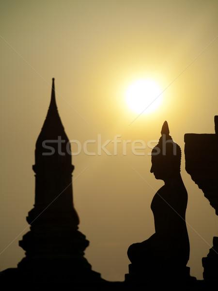 Stupa at sunset Stock photo © ldambies