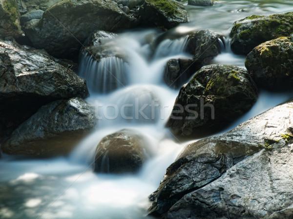 Belle montagne écouter lent mouvement nature Photo stock © ldambies