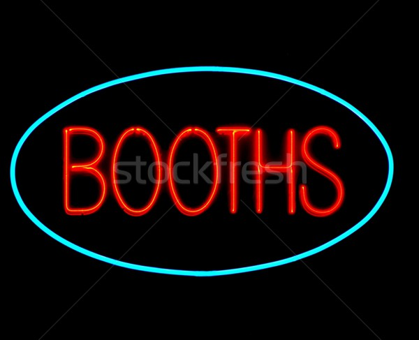 game booths neon sign Stock photo © ldambies