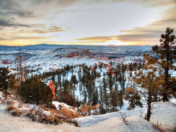 Sunrise over Bryce Canyon Stock photo © ldambies