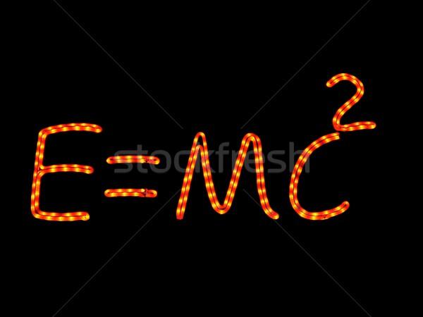 Tudomány neon fizika iskola fény felirat Stock fotó © ldambies
