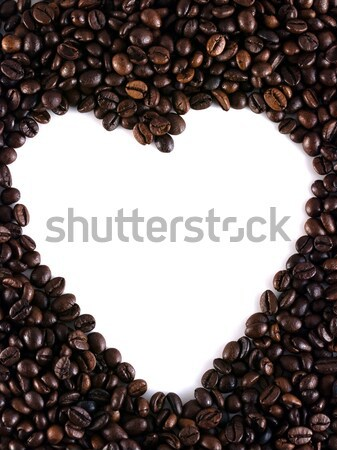 Coffee beans heart Stock photo © ldambies