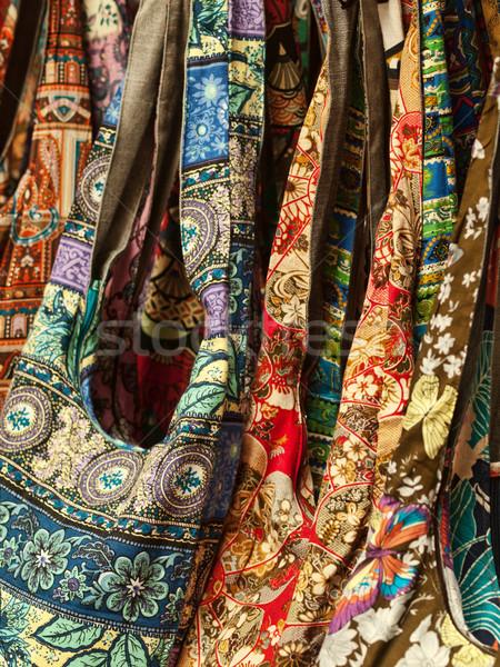 Sacos fundo belo têxtil moda beleza Foto stock © ldambies