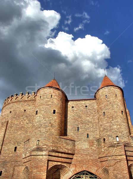 Варшава город стены стен Польша облака Сток-фото © ldambies