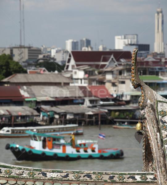 Bangkok görmek tapınak su Bina Asya Stok fotoğraf © ldambies