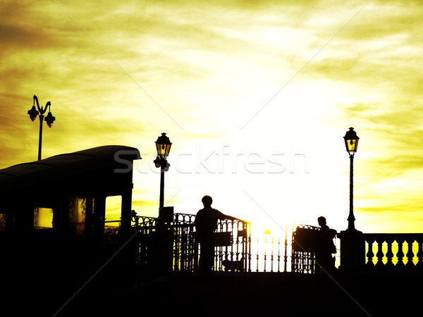 Cable car at sunset Stock photo © ldambies