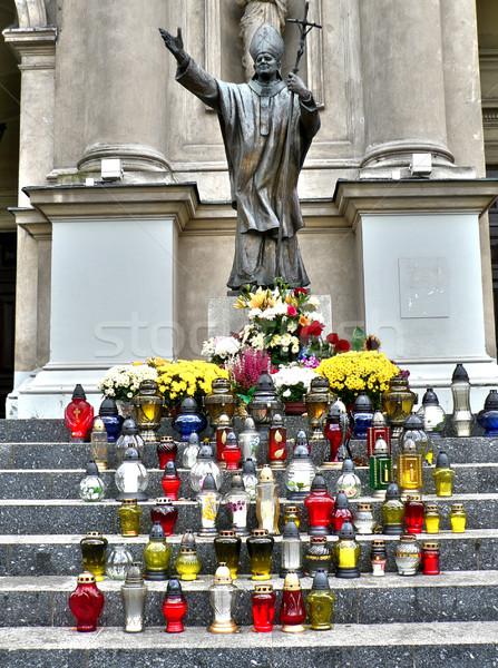 Pope John Paul II statue Stock photo © ldambies