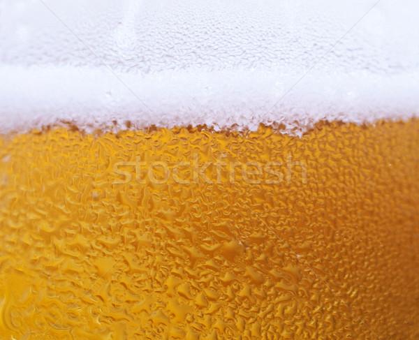 Bira makro cam taze su damlası içmek Stok fotoğraf © ldambies