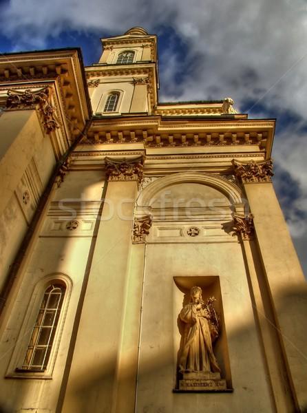 église ciel bleu déplacement nuages ghetto district Photo stock © ldambies