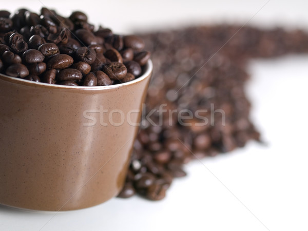 Spilled coffee beans Stock photo © ldambies