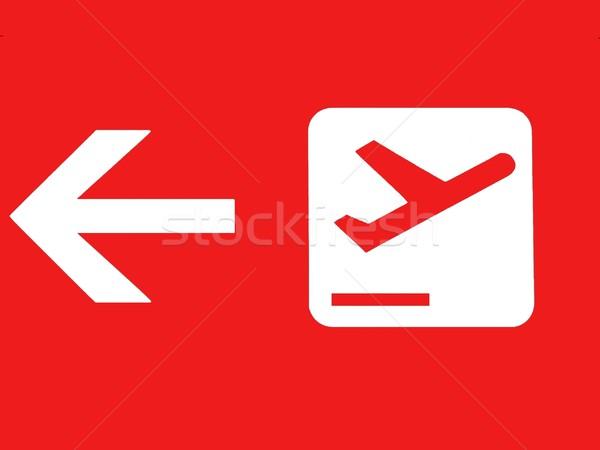оранжевый рейсы знак стрелка самолет плоскости Сток-фото © ldambies