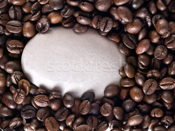 Coffee beans and stone Stock photo © ldambies